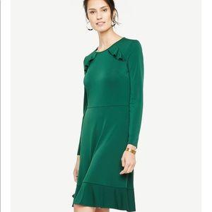 EUC Ann Taylor Green dress